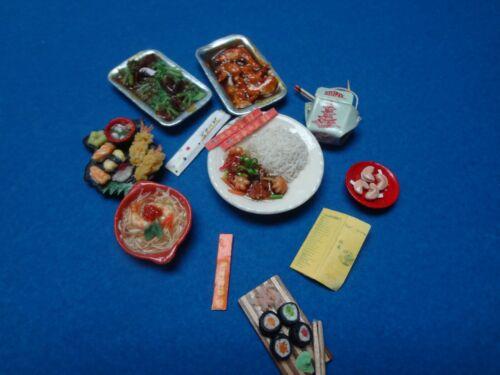 DOLLHOUSE MINIATURES ORIENTAL INSPIRED FOOD ASST.