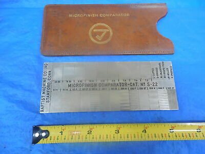 Used Baptist Machine Co. Inc. Microfinish Comparator Cat. No. S-22 With Case