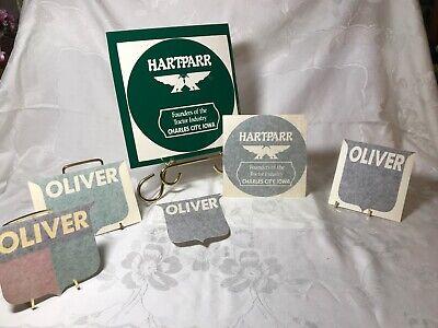 Hart Parr Oliver Logo Transfer Decals Lot Of 6
