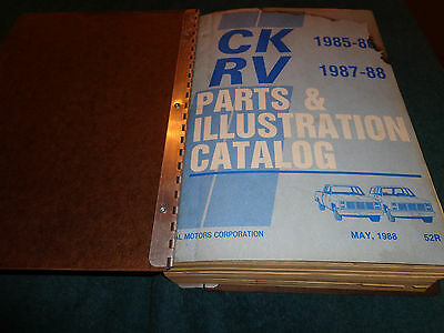 1985-1988 CHEVROLET & GMC PICKUP / BLAZER / SUBURBAN PARTS CATALOG / SQUARE (1985 Chevy Pickup Parts)
