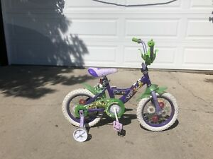 Kids bike tinker bell theme