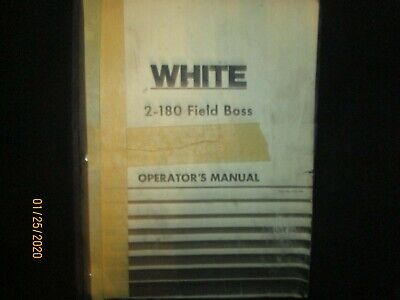 White 2-180 Field Boss Tractor Operation Troubleshooting Manual Book Original