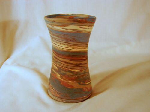 Old Niloak Mission Swirl 5-1/4in Vase, VG-Excellent Cond., 1st Art Mark, 1920s
