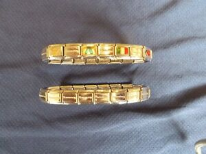Nomination Bracelets One With Charms 7 Charms Real 9ct