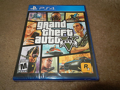 Grand Theft Auto V Five Sony Playstation 4 Ps4 Game Brand New Factory Sealed
