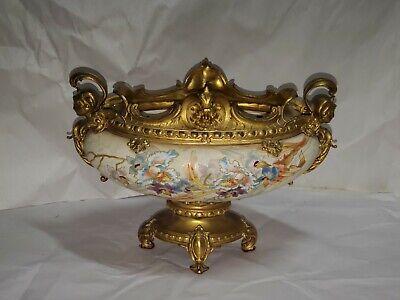 19th. Gilt Bronze Mounted Porcelain jardinere from OLD ESTATE no reserve