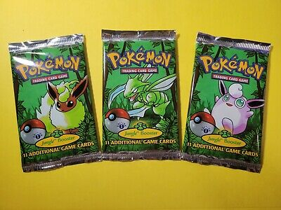Pokemon Jungle 1st Edition Booster Pack x3 English UNWEIGHED NEW SEALED CCG