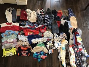 Lot vêtements garçon 3-18mois, 80 morceaux