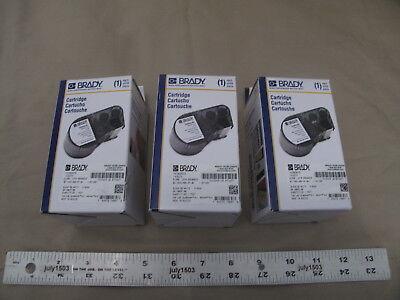 3 New Brady Label Cartridge Mc-1500-595-wt-bk Blackwhite Vinyl 1.5 X 25ft