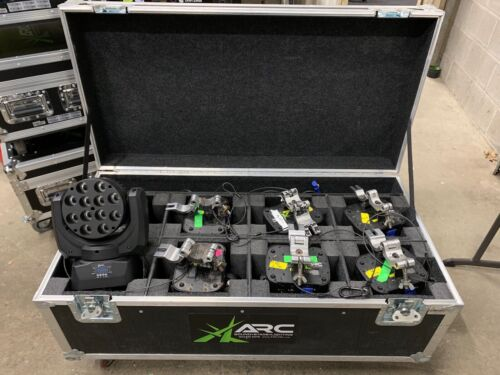 Chauvet Legend 412 Moving Wash Light Eight Total With Road Case