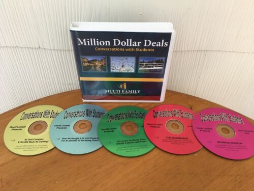 MILLION DOLLAR DEALS REAL ESTATE INVESTING COURSE BY DAVID LINDAHL 5 CD PACKAGE!