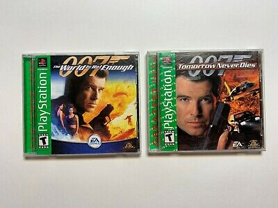 2 Game Lot 007 World + Tomorrow Complete CIB Game PlayStation 1 PS1 Tested ps