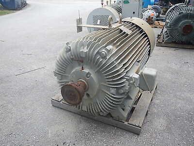 500 Hp Reliance Ac Electric Motor 1200 Rpm Fr. 9450z Tefc 4160 V Eok