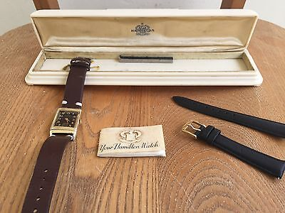 Hamilton Otis Reverso Full Set Box and Papers Rare