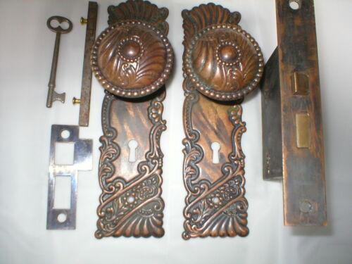 Antique Victorian Roanoke Door Lockset