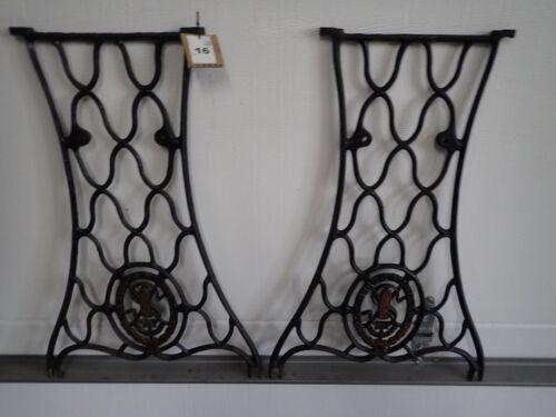 Antique SINGER Treadle Sewing Machine Base Legs Cast Iron Steam Punk  #26
