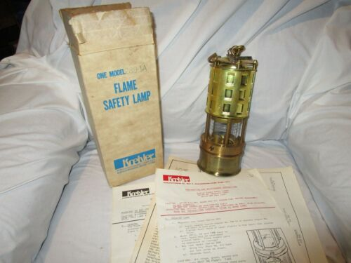 """Koehler Flame Safety Lamp, 289-1A New Old Stock with Box & Papers """"MINTY"""""""