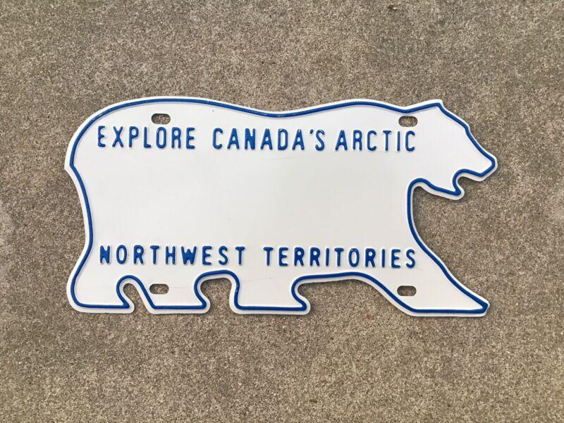 CANADA - NORTHWEST TERRITORIES - POLAR BEAR - BLANK - LICENSE PLATE - NWT