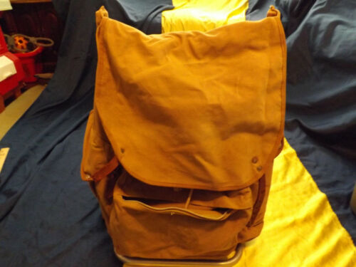 Vintage BSA Canvas Backpack With Metal Frame And Single Backpack