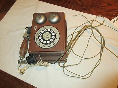 Telephones , Antique , Vintage , Rare , Brown Wood Telephone , Western Electric