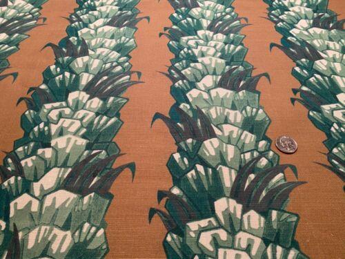 CAROLINA IRVING TEXTILES 'Palmetto' Tobacco Stripe 100% Linen Artisan Fabric BTY