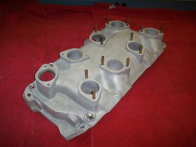 Vintage 1960's MOON 8 X 1 Weber Down Draft BBC Rect Port Intake Manifold 396 427