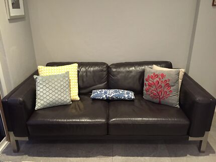 BEAUTIFUL Freedom leather 3 Seater sofa  Mount Lawley Stirling Area Preview