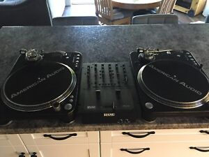 Dj Combo turntables/mixer/time coded records and needles