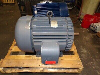 Baldor 75 Hp Ac Electric Motor 365ts Frame 1-78 Shaft 230460 Vac 3550 Rpm