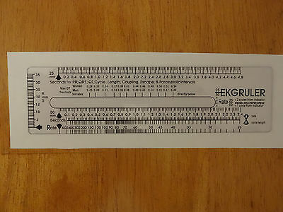 ECG EKG ruler Brand New , in USA d'occasion  Expédié en Belgium