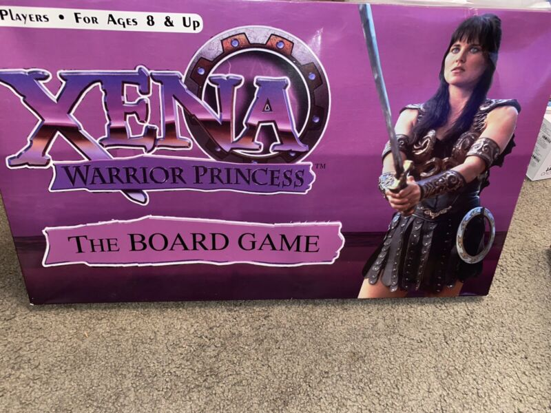 Xena Warrior Princess Board Game Vintage 1998 Complete Unpunched Game Pieces
