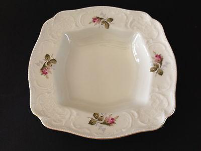 Vintage Rosenthal Sanssouci Moss Rose Square Serving Vegetable Bowl Dish Mint - $29.99