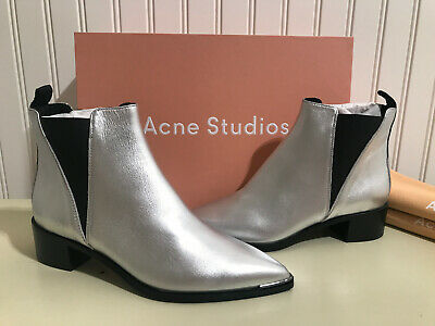 NIB Acne Studios Jensen Boots Silver Size 37 / 7 -- BRAND NEW