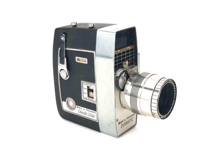 Bell & Howell Zoomatic Electric Eye Director Series 8mm Movie Camera TESTED