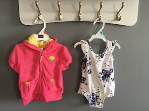 6-12 mo bathing suit, 9 mo beach cover