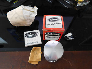 NOS Wiseco Yamaha Piston Kit 76-81 IT175 IT 175 AHRMA 374P8 374 P8 .080 O/S