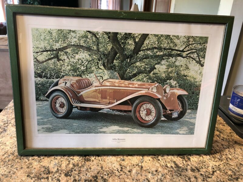 Vintage 1934 Alfa Romeo 2.3 Liter Supercharged 1961 Color Photo by Golden Press