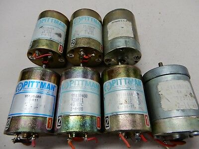Pittman Lot Of Motors 48 Vdc 9513b480 5 9513b505 9113b231 Tested Good Qty 7