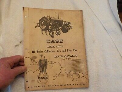 Case Eagle Hitch He Series Cultivators Two And Four Row Parts Cat. No.718
