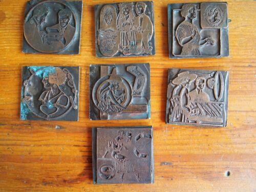 Antique Print Blocks, Letterpress Blocks, Wedding Invitations, Stamp Blocks