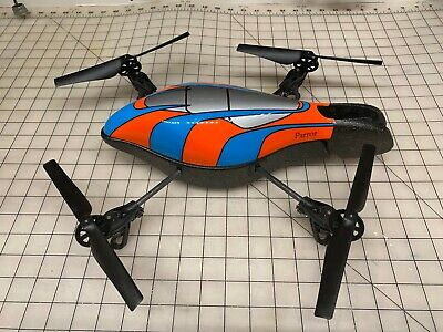 Parrot AR Drone with 3 BATTERIES - 2 chargers plugs extra motor & More WITH BOX