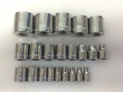 """7//16/"""" 6pt Deep Fractional Chrome Socket SK Hand Tools 40414 3//8/"""" Dr"""