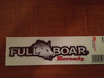 Full Boar by Hornady Hunting vinyl sticker   Free Shipping!!