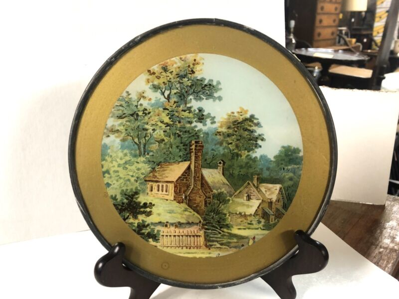 Antique Flue Cover Wall Hanging Victorain House In Woods Print 7 3/4""