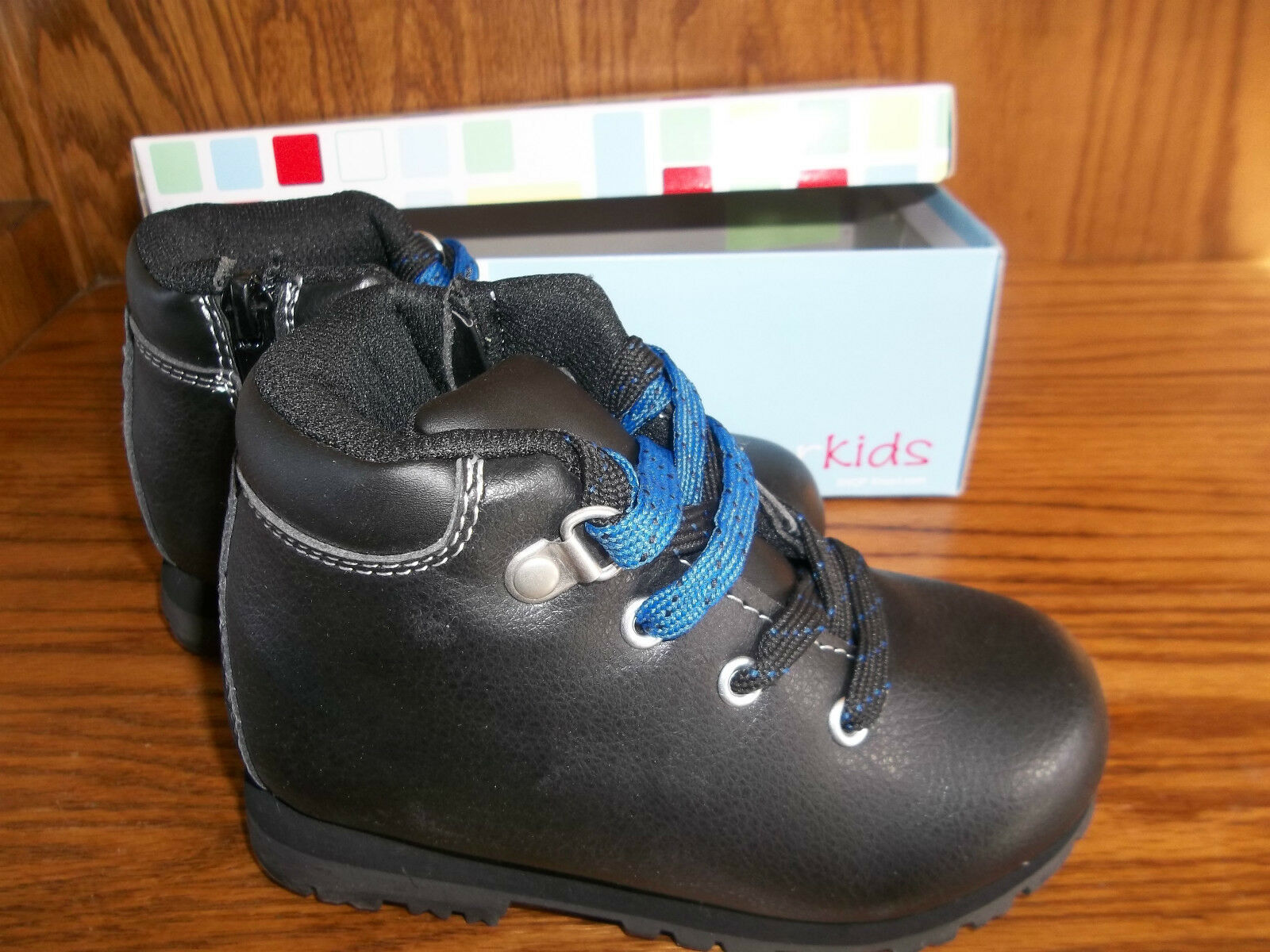 NEW WONDERKIDS BLACK BOOTS BABY/ TODDLER SIZE 10 MSP $19.99 1