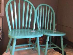 Green Blue single chairs