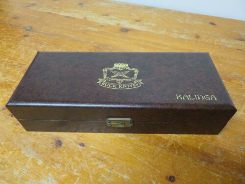 "1 Vintage 1970 Buck Knives ""Kalinga Model Case"" Model 401 Note: CASE ONLY Clean!"