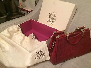 Coach Madison Carrie Croc Embossed Leather Purse #26336