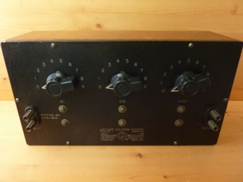GENERAL RADIO 654-A Decade voltage divider vintage wood case nice clean unit