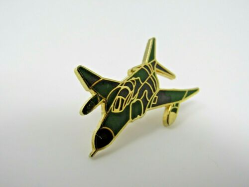 Fighter Jet Pin Brown Enamel